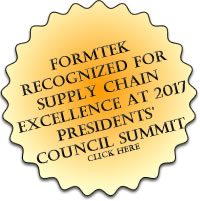 Formtek Wins Supply Chain Excellance Award